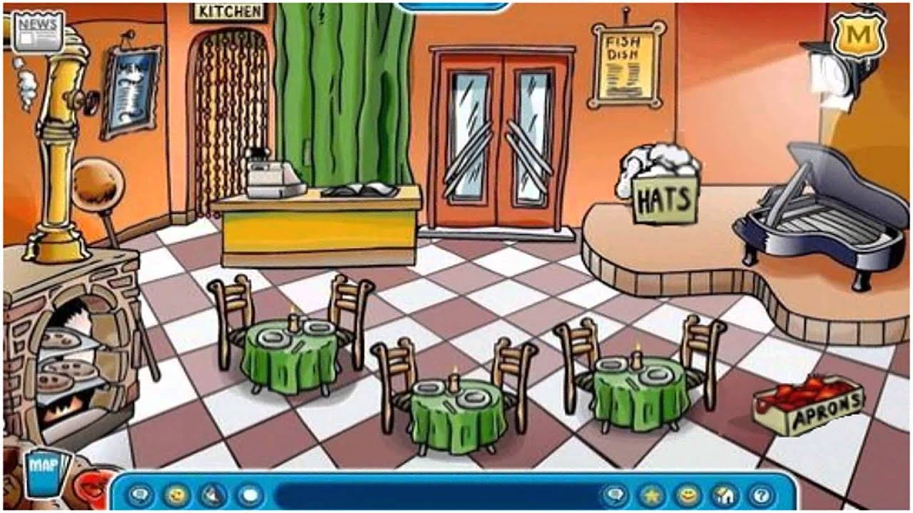 Pizza Parlor Kitchen club penguin pizza parlor opening party 2006 - youtube