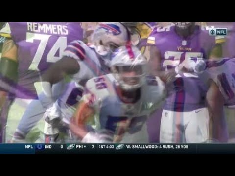 Jerry Hughes chases down Cousins for huge strip-sack