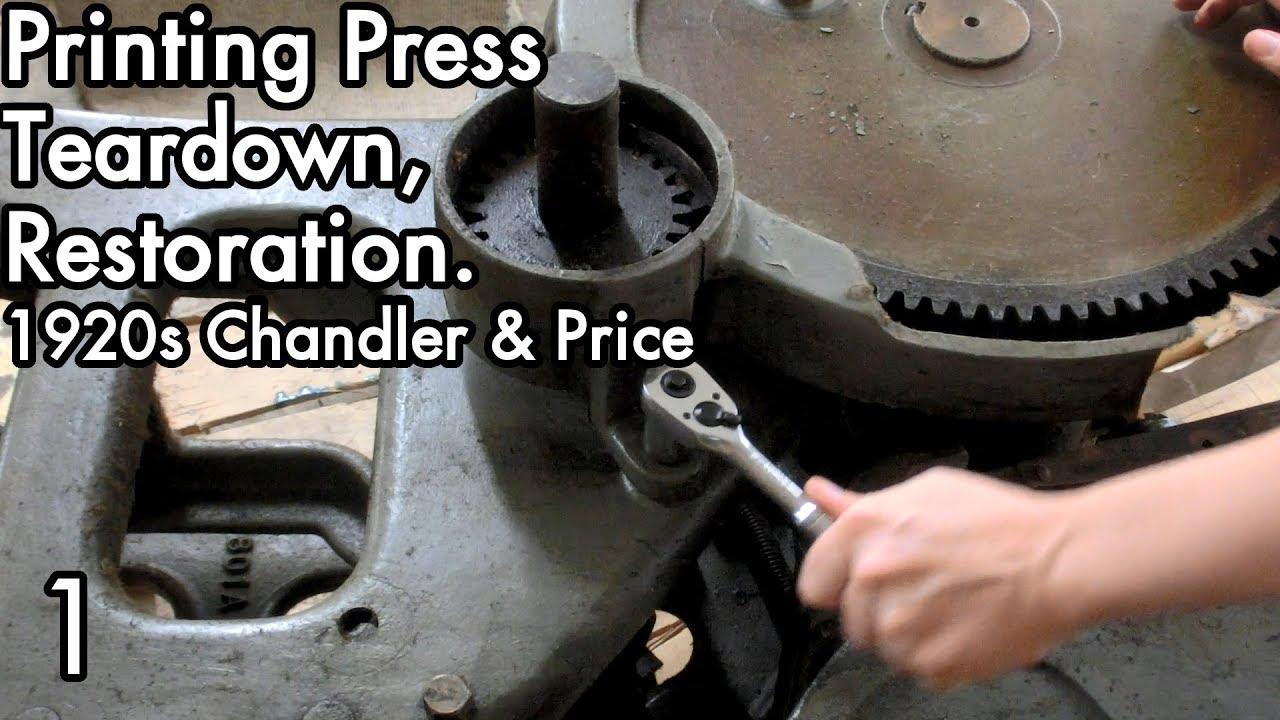 1920S Chandler Price Teardown Restoration 01 Break It Down Into Smaller Parts