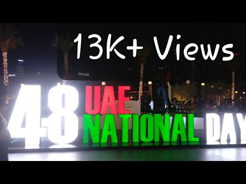 UAE 48th National Day Celebration Dubai Mall | National Anthem Theme for Dubai Fountan  Burj Khalifa