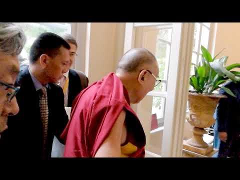 Dalai Lama joins Richard Gere at Bagni di Pisa, Tuscany