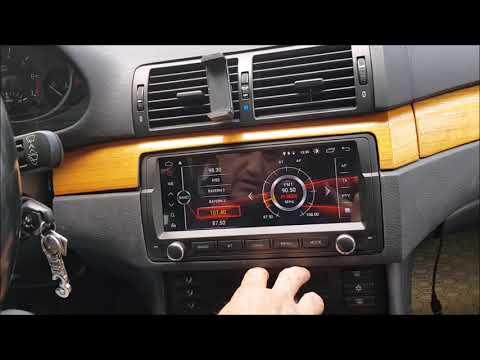 Установка магнитолы Android 9.0 8.8 дюйм на BMW E46