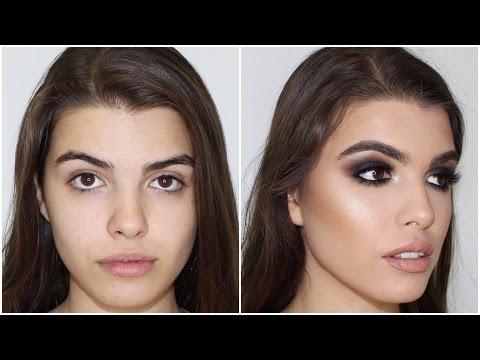 Black Smokey Eye Makeup Tutorial ♡ Jasmine Hand