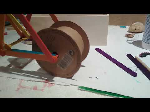 Motorcycle DIY wood sticks and paper wheels 1