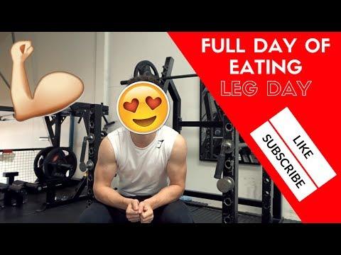 FULL DAY OF EATING + LEG DAY!
