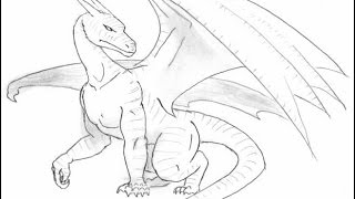 How to make a dragon (shape dragon). Learner Learns to Draw #1 (ms paint)