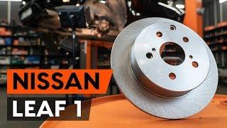 Montaje Juego de frenos de disco delanteras y traseras NISSAN LEAF: vídeo manual