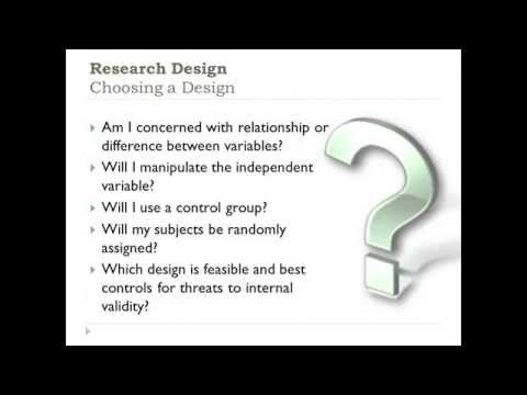Research Methods-Choosing a Research Design