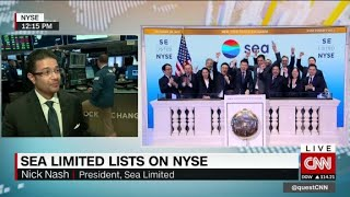 Richard Quest talks to the PRESIDENT (not CEO) of Singapore's Sea L...