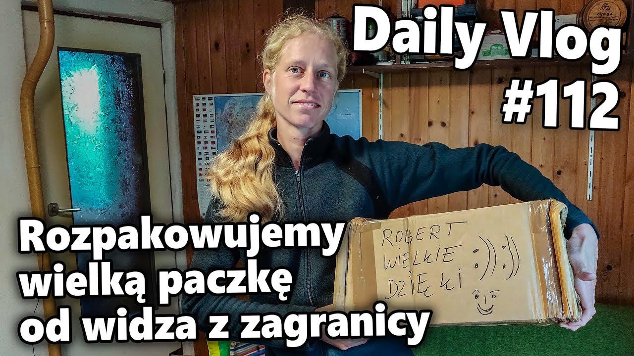 Rozpakowujemy wielką paczkę od widza z zagranicy. Co jest w środku?  | #112 Daily Vlog