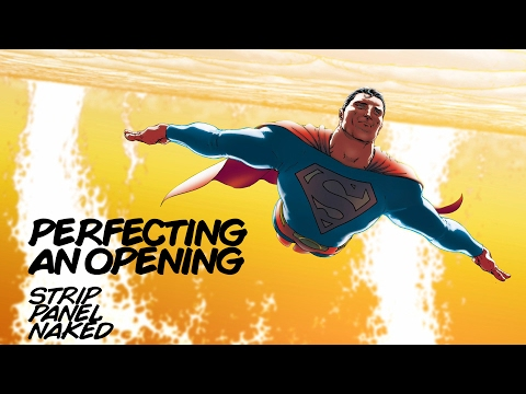 Perfecting an Opening | All Star Superman | Strip Panel Naked