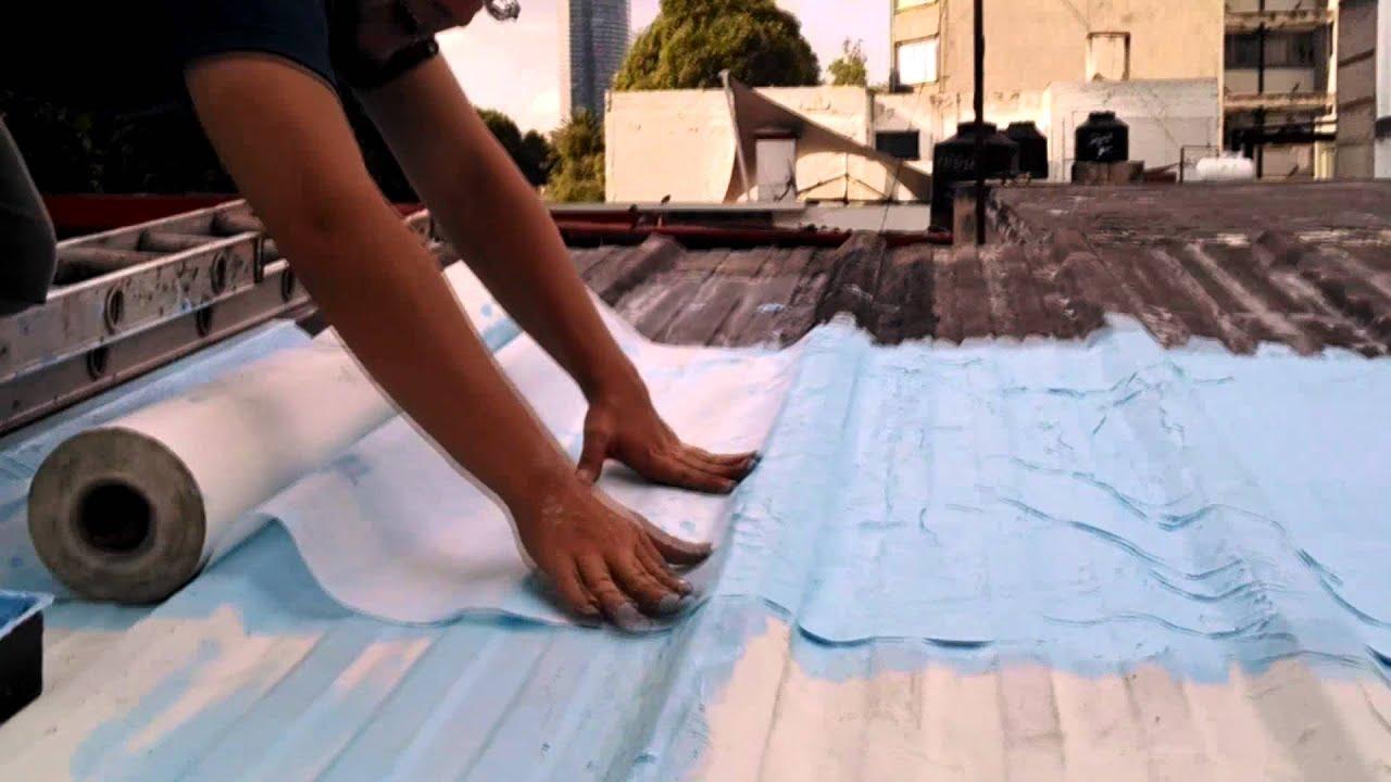 Clh como impermeablilizar un techo de lamina youtube for Como poner chirok en el techo