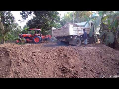 รถดั้ม 6 ล้อ  เทดิน ถมดิน รถไถ คูโบต้า ดันดิน เกรดดิน Trucks & Tractor Kubota   Ep.1