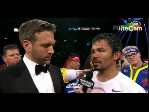 Manny Pacquiao Robbed Vs Floy Mayweather 2015 Interview