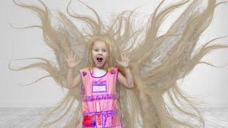 Little Panda kids play hairdresser and dye hair: Beauty Salon & Hairstyles Toys!
