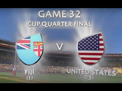Fiji Vs USA Wellington 7's Quarter Finals 2016 Full Game