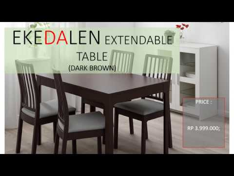 Ekedalen Dining Table Extendable Youtube