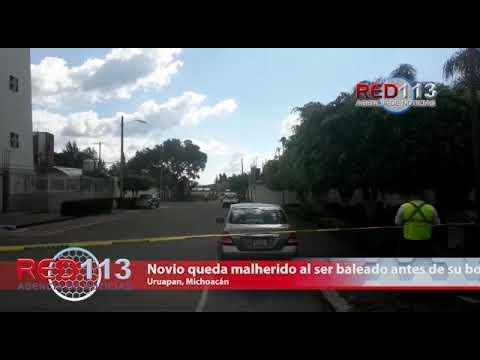VIDEO Novio queda malherido al ser baleado antes de su boda en Uruapan