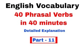 Phrasal Verbs English Vocabulary  for Bank po and SSC CGL  [In Hindi] Part 11