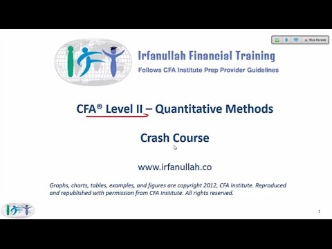 2015 Level II CFA - Quantitative Methods Summary Part 1