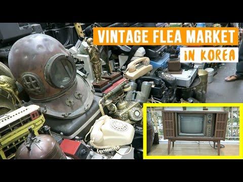 Vintage Seoul Folk Flea Market in South Korea