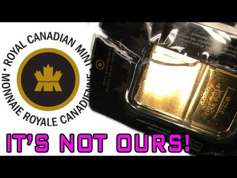 Royal Canadian Mint On Fake Gold Bar: It's Not Ours!