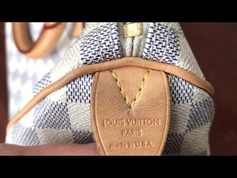 How To Spot Authentic Louis Vuitton Speedy 30 Damier Azur Bag and Where to Find Date Code
