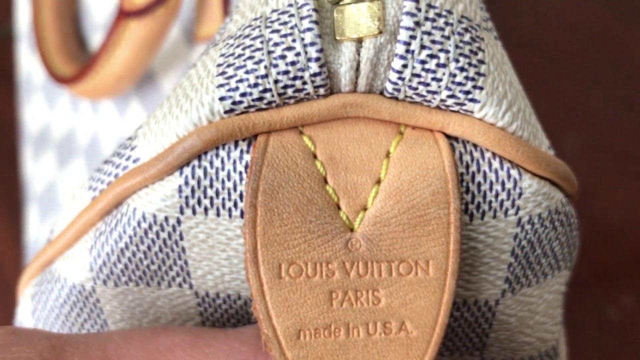 How To Spot Authentic Louis Vuitton Speedy 30 Damier Azur Bag and Where to  Find Date Code c6045567c00df