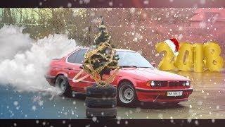 Такое бывает раз в жизни! Елка, БМВ и Снегурочка, всем досталось! BMW e34 вREDина