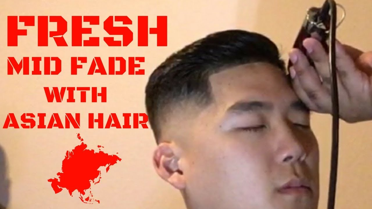 freshest mid-fade combover w/asian hair!   tutorial  
