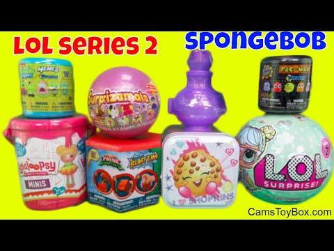 TOYS Surprise LOL Doll Series 2 Spongebob Mashems Blastems Lalaloopsy Pac Man Surprizamals