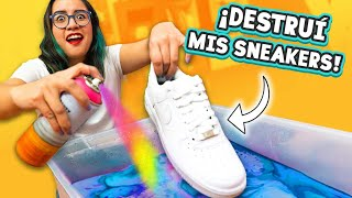 Hydro Dipping My NEW Air Force 1 Sneakers! *First time dip* 😨