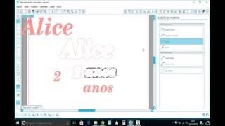 Deslocar e fundir letras para o corte - silhouette studio