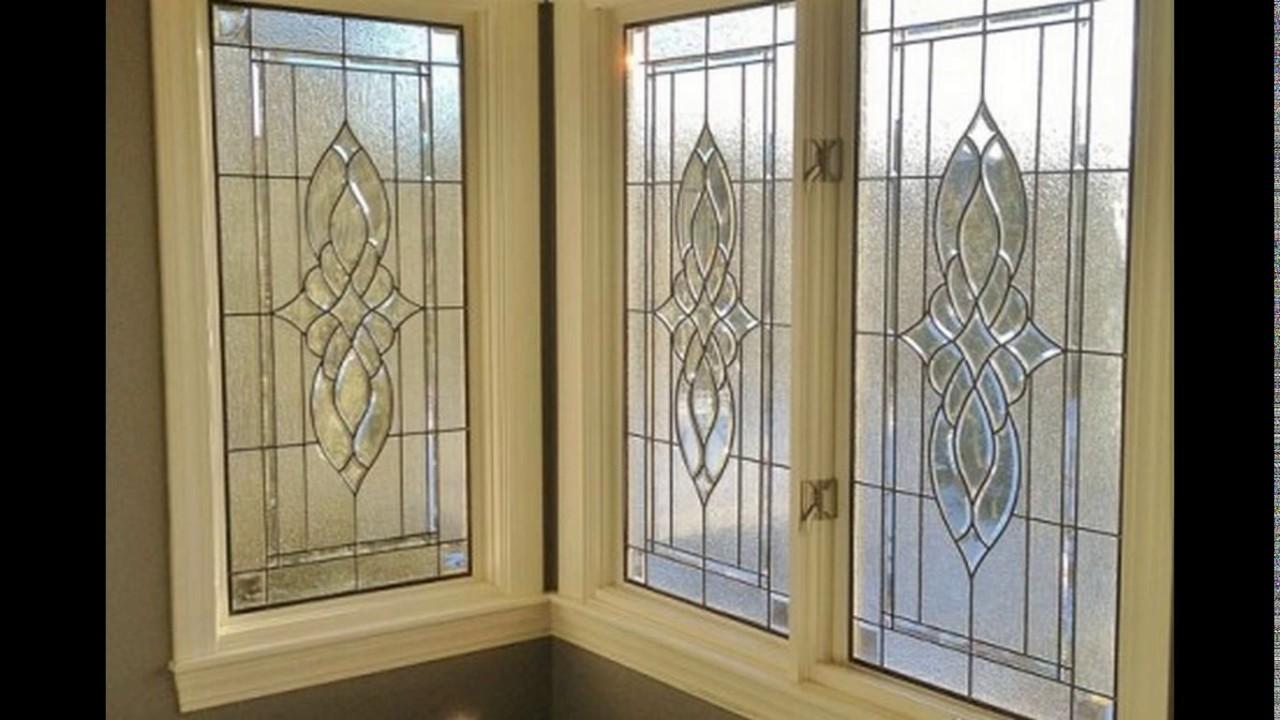 Bathroom window glass designs