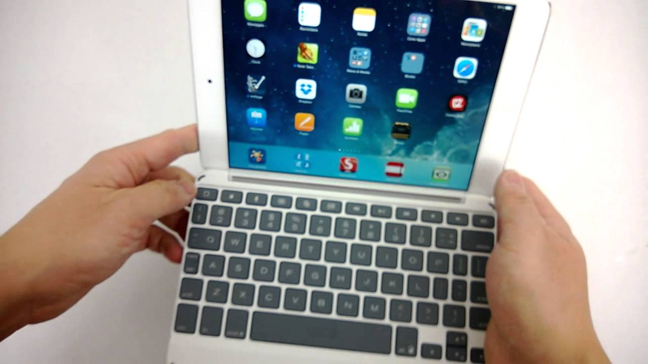 more photos f20b2 354c1 Zaggkeys Keyboard Cover for iPad Mini Review