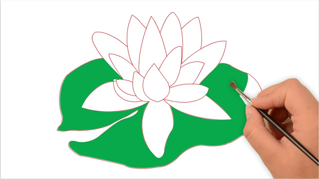 How to draw water lily for kids easy step by step one minute how to draw water lily for kids easy step by step one minute drawing izmirmasajfo