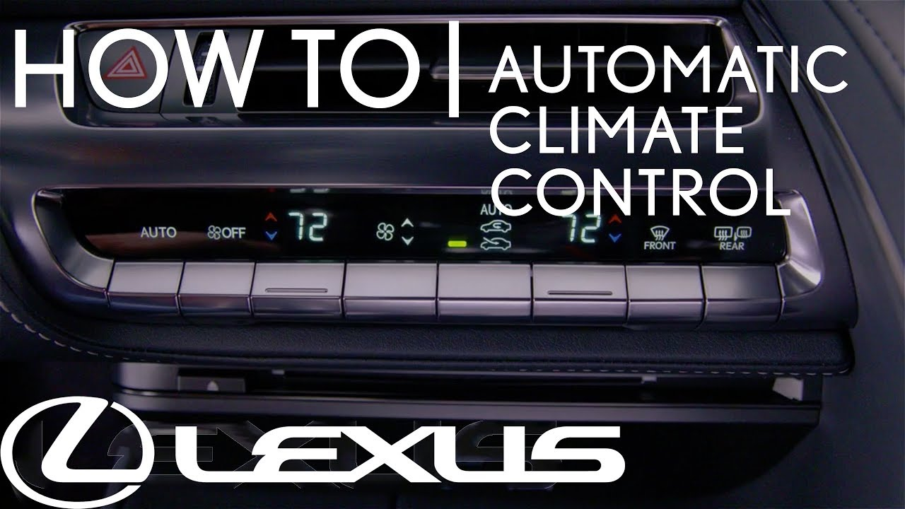 How To Use Remote Touchpad For Automatic Climate Control Lexus