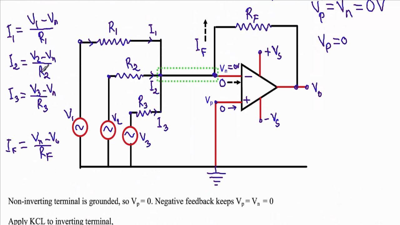 circuit diagram of non inverting amplifier suzuki x4 125 motorcycle wiring summing adder summer operational