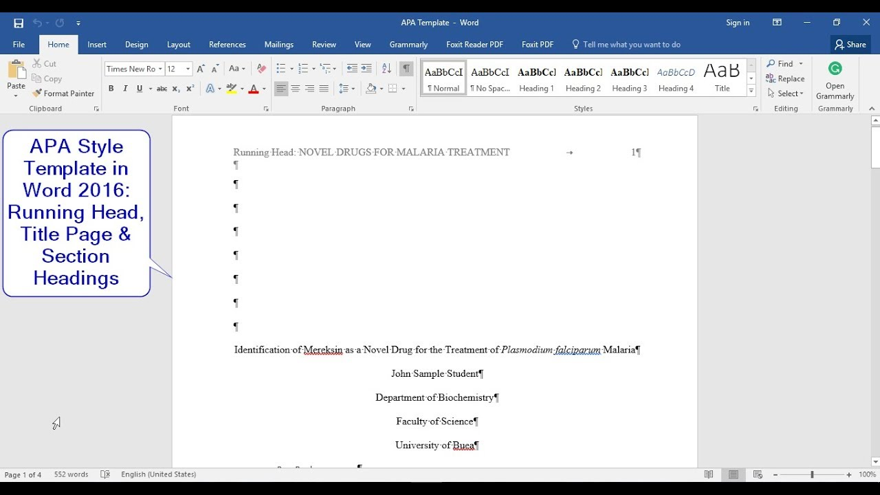 apa style 6th edition how to make a template with running head