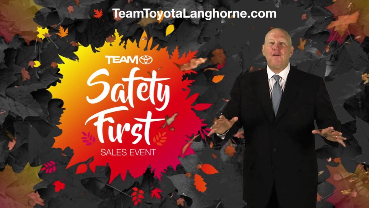 Team Toyota Of Langhorne Safety First Sales Event Youtube