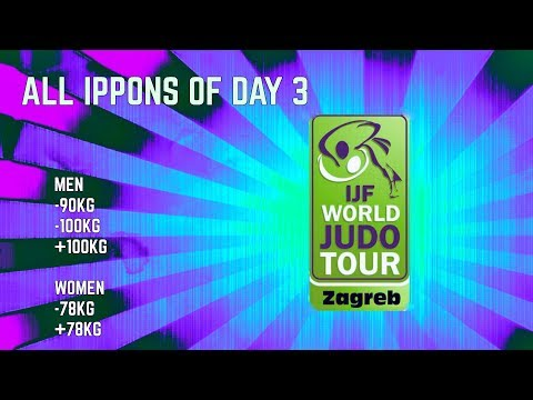 All ippons in day 3 of Judo Grand-Prix Zagreb 2017