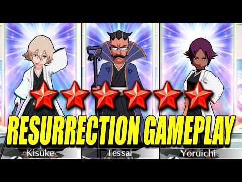 KISUKE, TESSAI And YORUICHI RESURRECTION GAMEPLAY Bleach Brave Souls