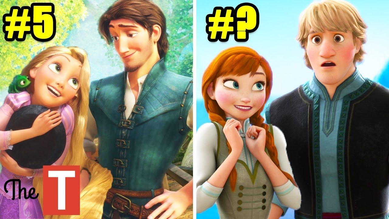 10 Best Disney Princess Couples Ranked - YouTube