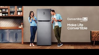 Make Life Convertible with Samsung Convertible 5in1 Refrigerator