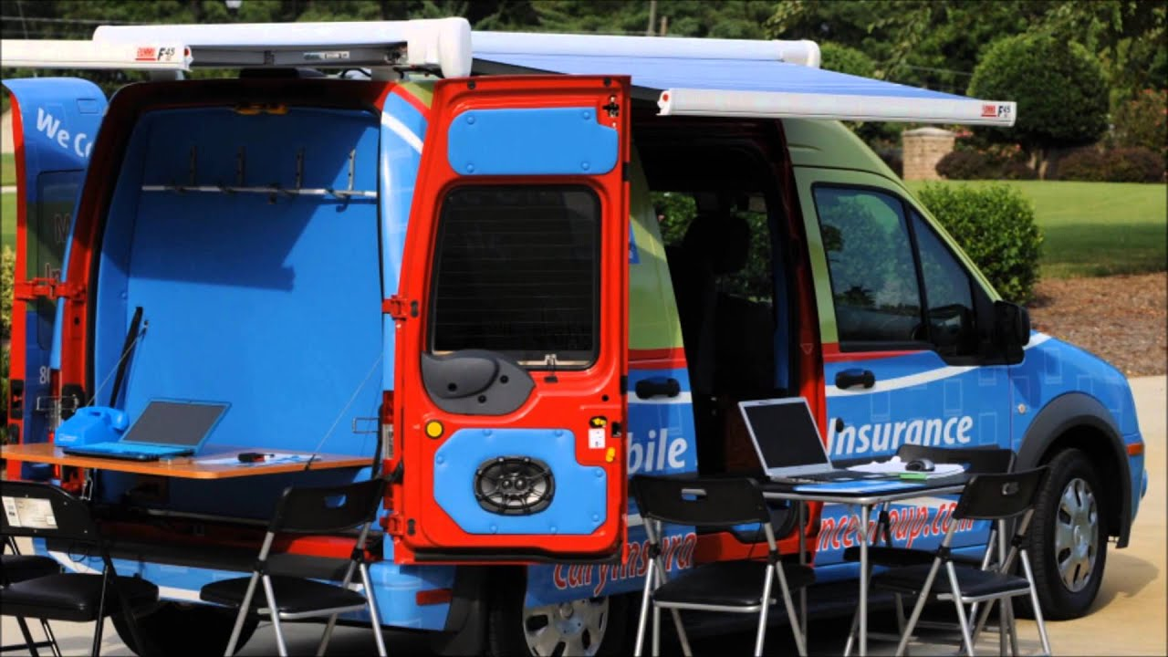 The first mobile insurance office on wheels ford transit connect youtube - The mobile office working on two wheels ...
