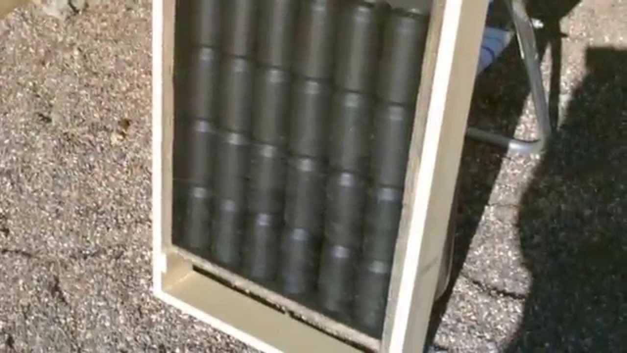 Homemade Solar Air Heater Diy Quot Soda Pop Can Quot Air Heater
