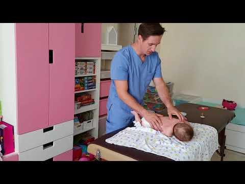 Детский массаж/Как научить ребенка переворачиваться на живот/Гимнастика и массаж малышам в 3 месяца
