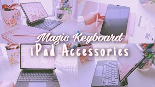 Unboxing Magic Keyboard + iPad Pro 2020 Accessories 🌸✨