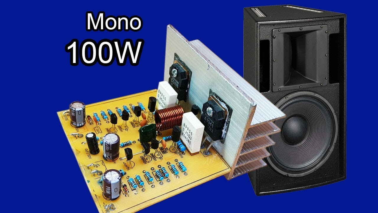 How to make Amplifier mono 100W using transistors C5198 and A1941 - JLCPCB