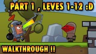 Bomb Besieger Walkthrough, Part 1 Chapter 1, Levels 1-12, BigDino Games help